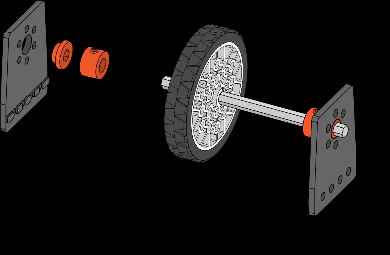 Short Bearing with Motion Bracket